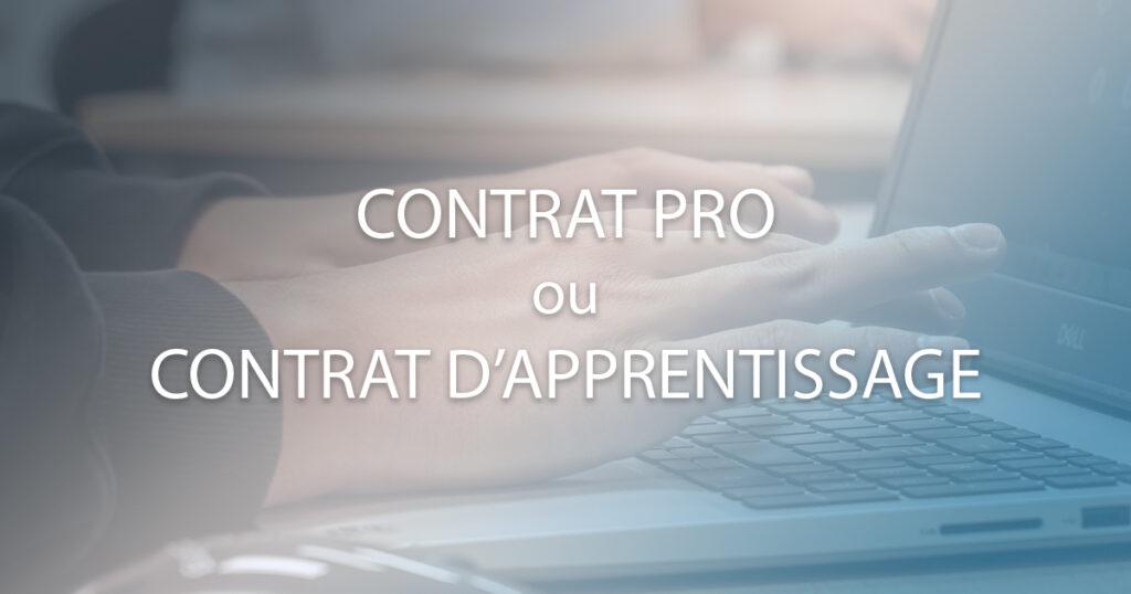 contrat d'apprentissage ou contrat pro facebook
